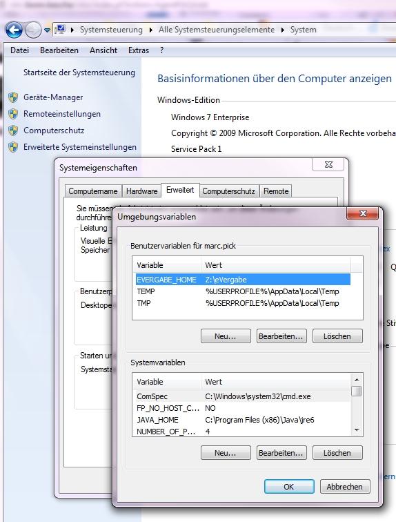 e-Vergabe Terminalserver und NT-Domäne
